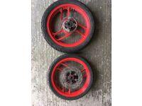 Yamaha RD125 LC Wheels, Front & Rear