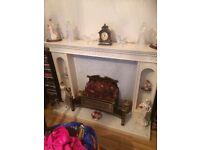 White fire surround for sale.