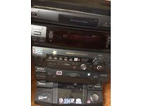 Sony 5 CD, Record Player, Twin Tape Deck and Radio Stereo System with Five Speakers
