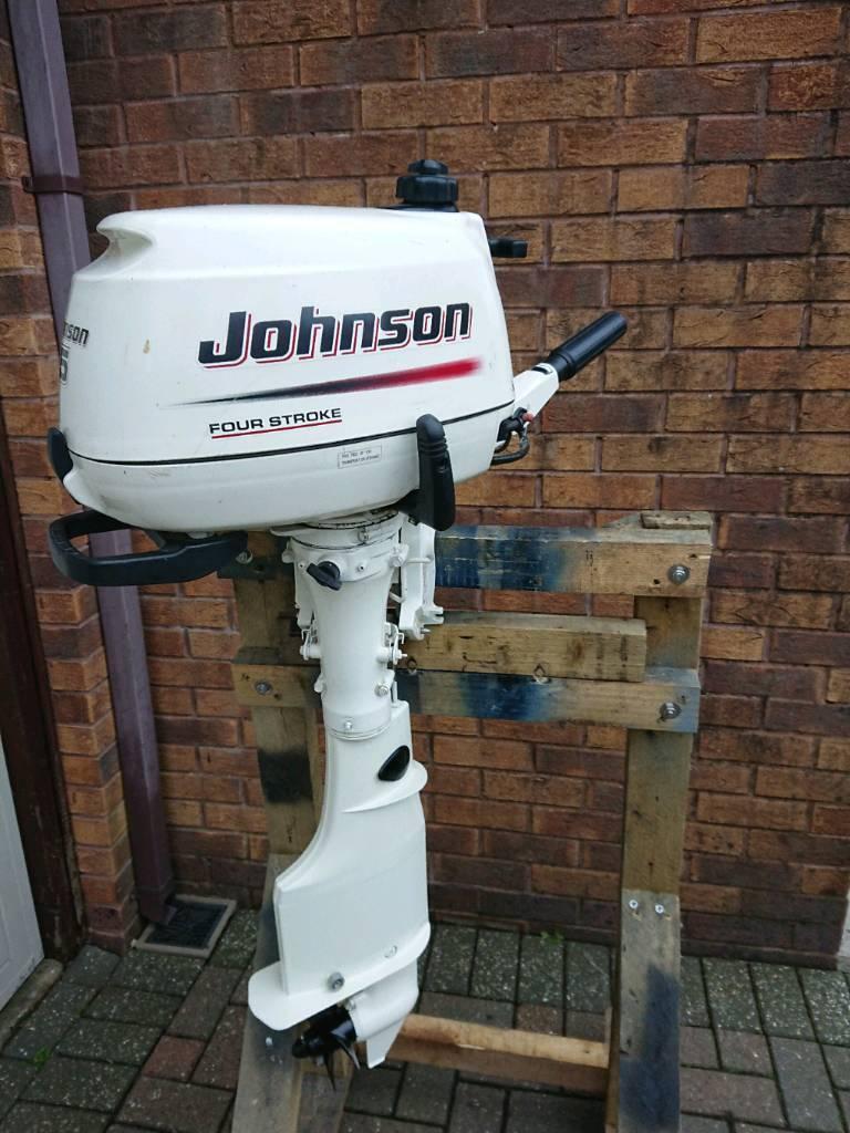 2004 Johnson 5hp 4-stroke outboard motor longshaft