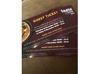 2 x Taste Of London Tickets Thurs or Fri