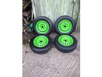 Vw t4 wheels with new tyres