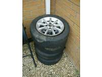 14' wheels fits mazda MX5 2 great tires