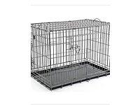 XXL black dog crate