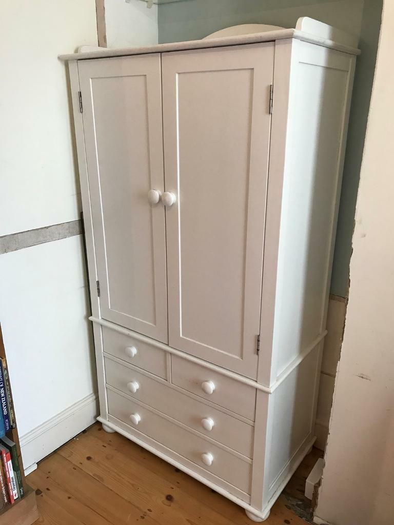 Children S Childrens Wardrobe White With Drawers And