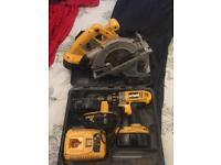 18v Combi drill and circular saw