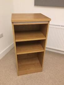 Oak Veneer Book Shelf with option of a velcro fabric cover