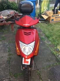 USED HONDA Red 2006 Motorcycle SCV 100 F-5 102 CC (Spare or Repair)