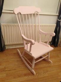 Shabby chic high back rocking chair rocky