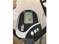 Cross trainer / exercise bike with heart rate monitor. Indoor exercise machine