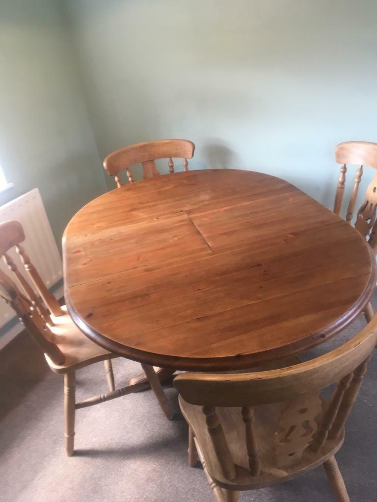 Solid Wooden Table With 4 Chair Set In Stapleford Nottinghamshire Gumtree