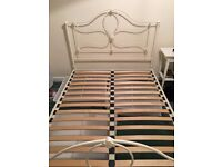"Laura Ashley ""Charlotte"" Double Bed Frame with Ivory Finish"