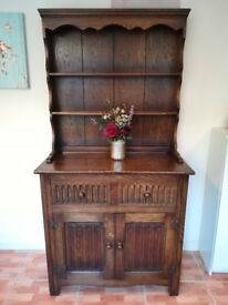 Solid dark wood dresser