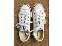 Child's Size 1 leather converse trainers