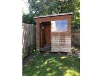 Free shed, needs door and refelted on roof. Needs dismantled