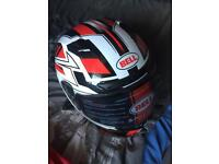 Bell racing helmet