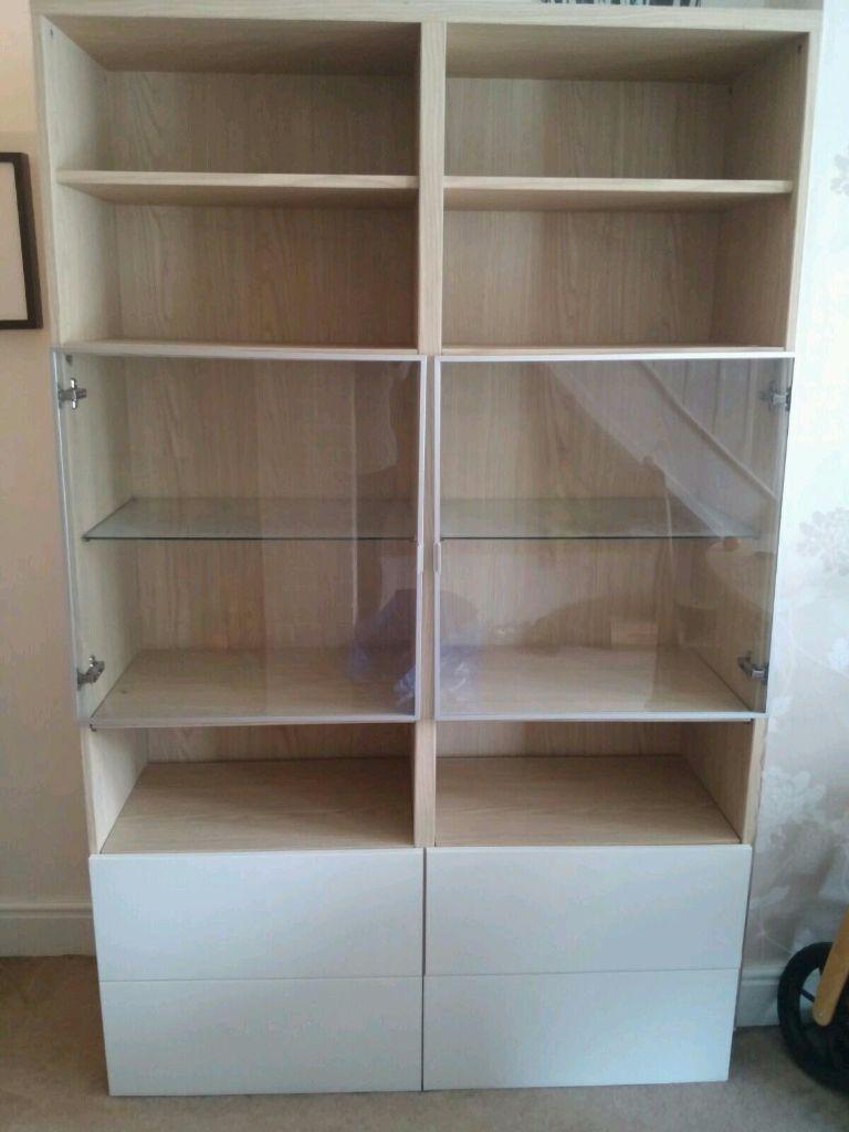 Ikea Besta Bookshelf Shelving Unit Display Cabinet