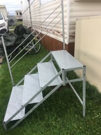 "Set of galvanised steps , 30"" high.Three months old, £90.00"