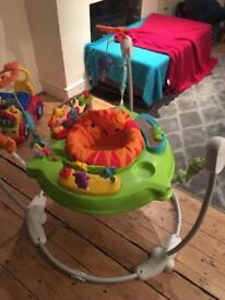 Fisher price roaring rainforest jumperoo music and lights