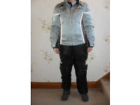 Bering ladies motorcycle protective suit with seperate quilted liner