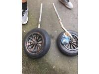 Rib launching wheels foldable boat