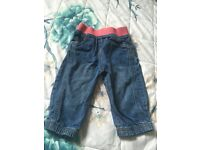 Baby Girl M&S Jeans 9-12 Months