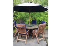Costco solid teak garden dining furniture NOW SOLD