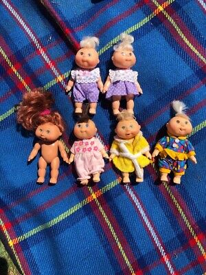 vintage cabbage patch kid dolls X6 Minis