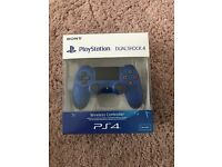 PS4 controller Blue. Unopened. Sealed in Box.
