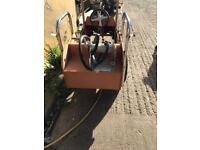Old fashion fire engine car toy