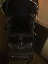 Stokke pushchair and winter kit and foot muff