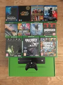 Xbox One Hardly used with box and great games + 4 blu rays