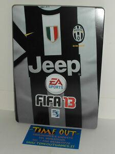 FIFA 13 JUVENTUS STEELBOOK STEELBOX NO GAME XBOX 360 PS3 NEW RARE