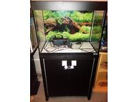 90 litre Fluval fish tank with Fluval stand