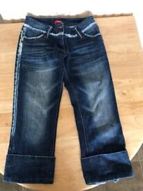 3/4 length jeans
