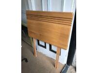 Single wooden headboard