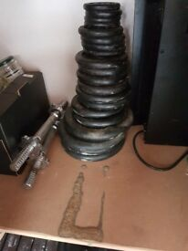 2x dumb bells and 42kg weights