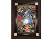 Superman Liquid Art Work With Swarovski Crystal