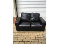 Black Leather 2 seater sofa £50