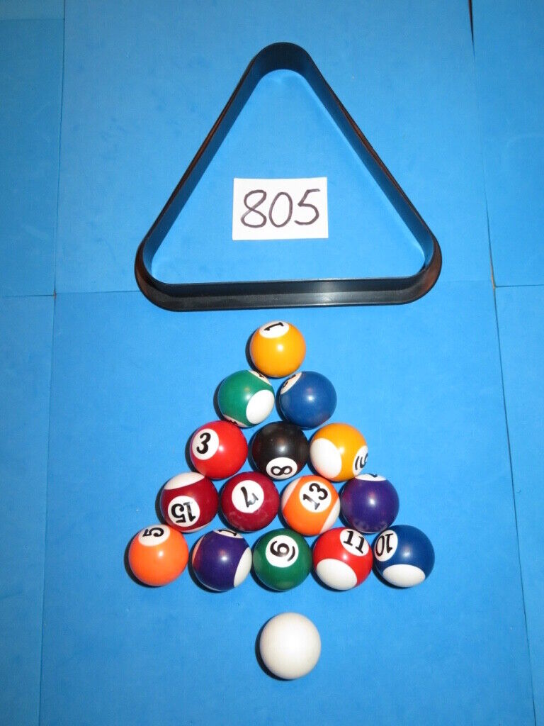 SET of MINI POOL BALLS with Triangle. Never Used. Great Offer!!