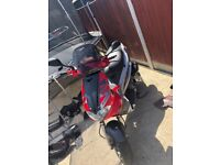 Gilera runner original pannels on it, but have black pannels too go on! 125 goes about 80