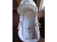 Clair de lune moses basket in good condition from smoke and pet free home.
