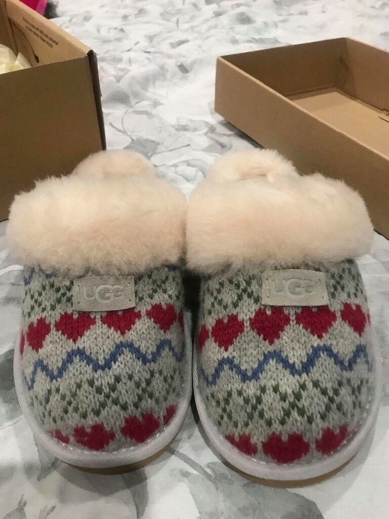 cc244e2fb8a Ugg slippers - grey with heart pattern | in Sheffield, South Yorkshire |  Gumtree