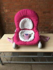 Pink chicco baby rocker - enderby