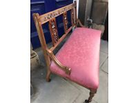 2 seater mahogany hall settee . Good quality and in good condition .