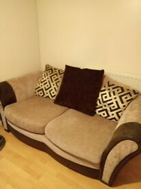 2 x DFS Large Two Seater Sofa