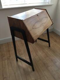 Retro, vintage 1970's walnut desk