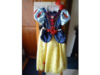 Snow White Fancy Dress/Sparkly Bow Headband and Bag Good Quality 7-8