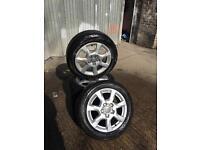 Audi alloys set and tyres