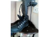 work boots size10 black leather gelert